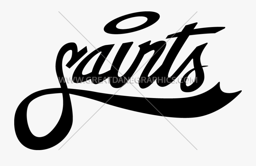 Transparent Unicycle Clipart Black And White - Word Saint With Halo, Transparent Clipart