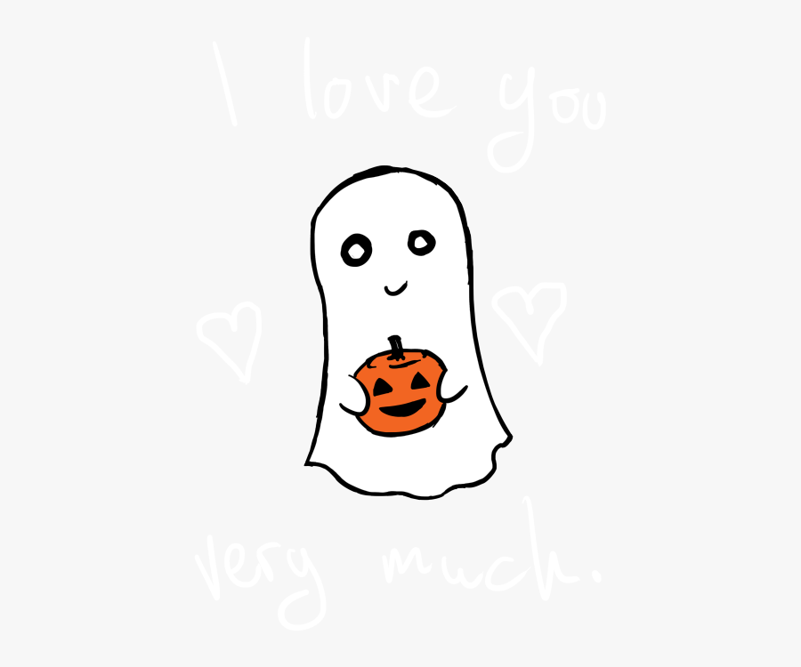 Halo Clipart Png Tumblr - Ghost Cute I Love You, Transparent Clipart