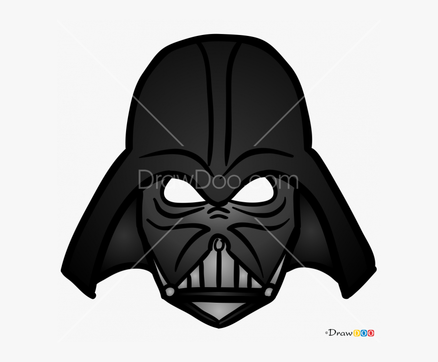 How To Draw - Darth Vader Mask Cut Out, Transparent Clipart