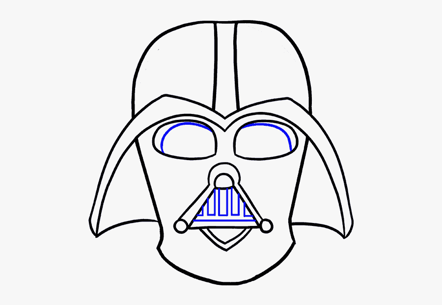How To Draw Dart Vader - Easy Cartoon Darth Vader, Transparent Clipart