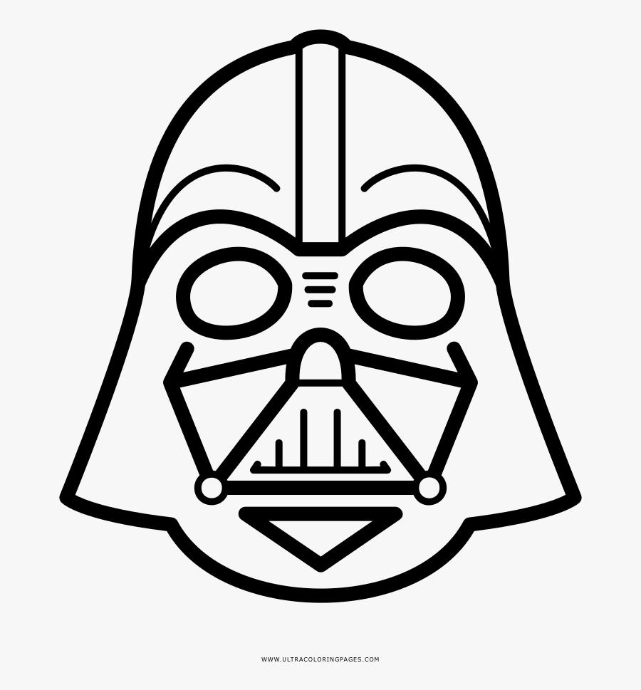 Darth Vader Coloring Page - Darth Vader Helmet Drawing Easy, Transparent Clipart
