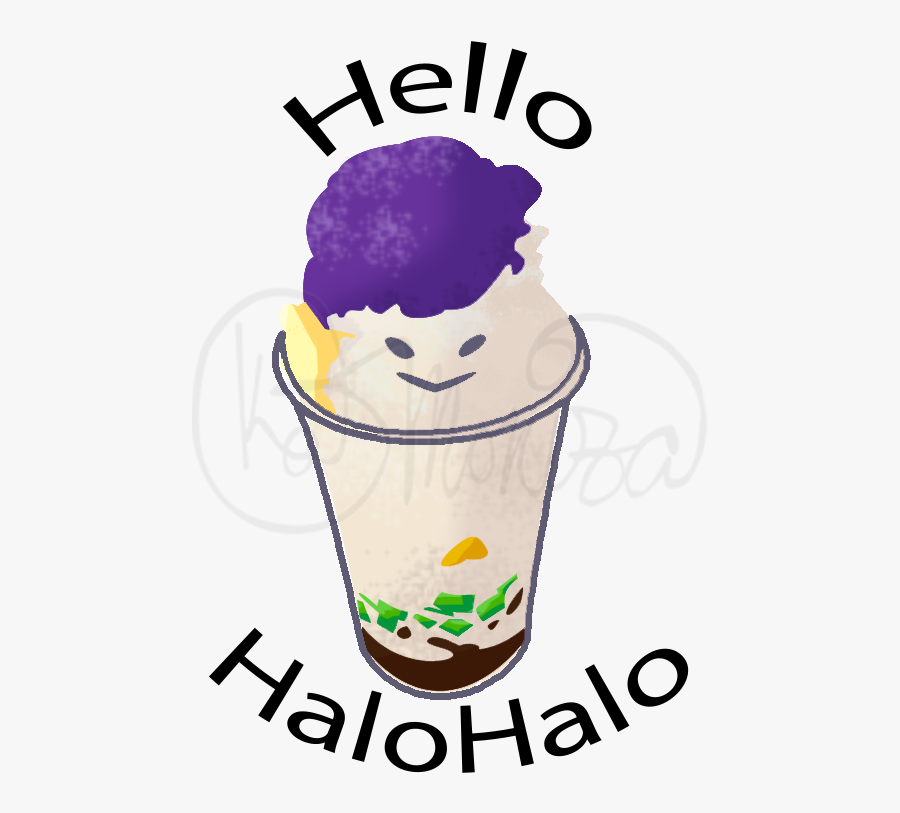 Coconut Halo Halo Clip Art Black And White, Transparent Clipart