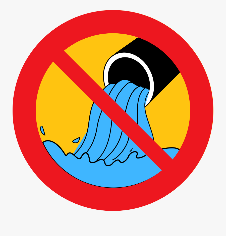 Thumb Image - No Water Pollution Sign, Transparent Clipart