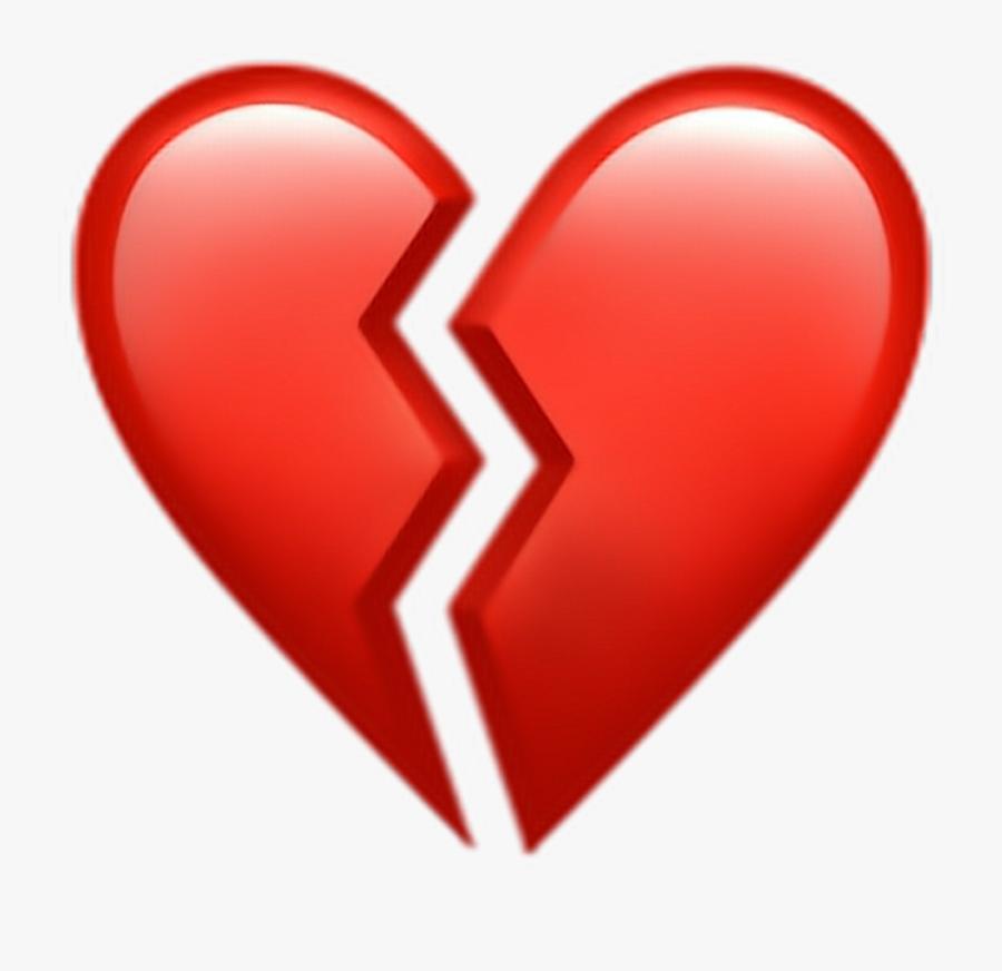 Broken Heart Clipart Picsart - Transparent Broken Heart Emoji, Transparent Clipart