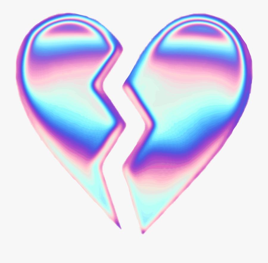 Broken Heart Clipart Picsart - Aesthetic Broken Heart Png, Transparent Clipart