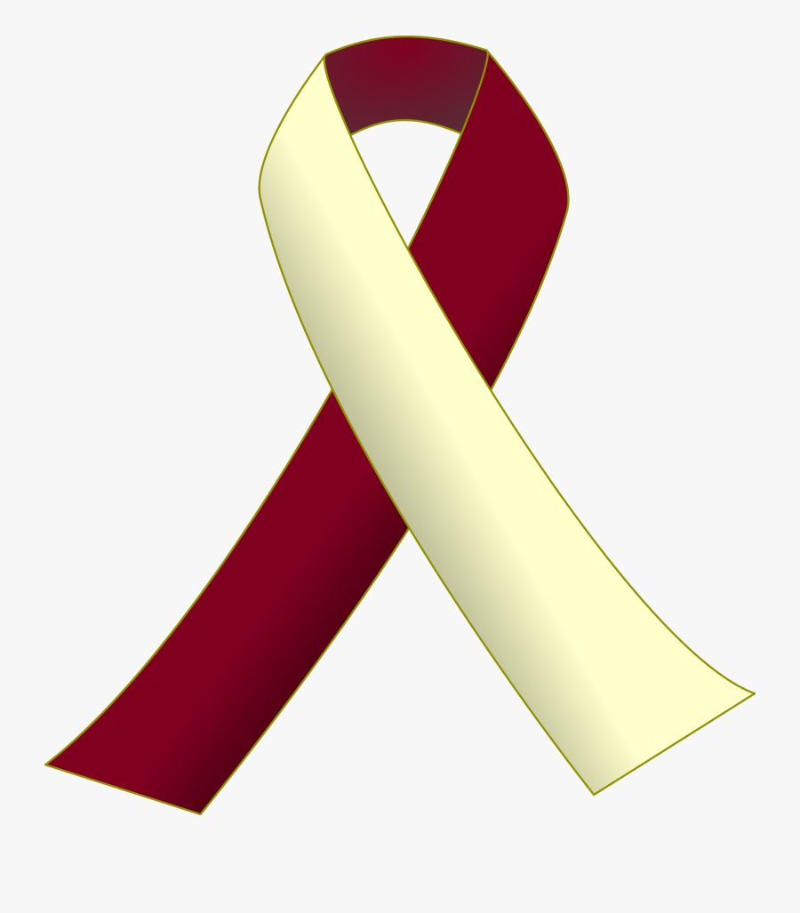 This Free Icons Png Design Of Burgundy And Ivory Ribbon - Head And Neck Cancer Logo, Transparent Clipart