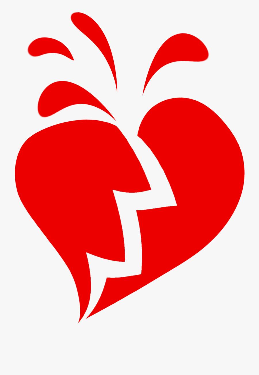 Hearts Clipart Person Broken Heart - Broken Heart With Transparent Background, Transparent Clipart
