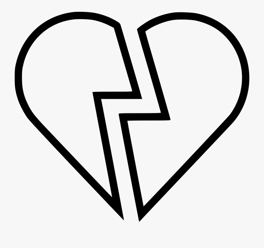 Broken Heart Icon Png, Transparent Clipart