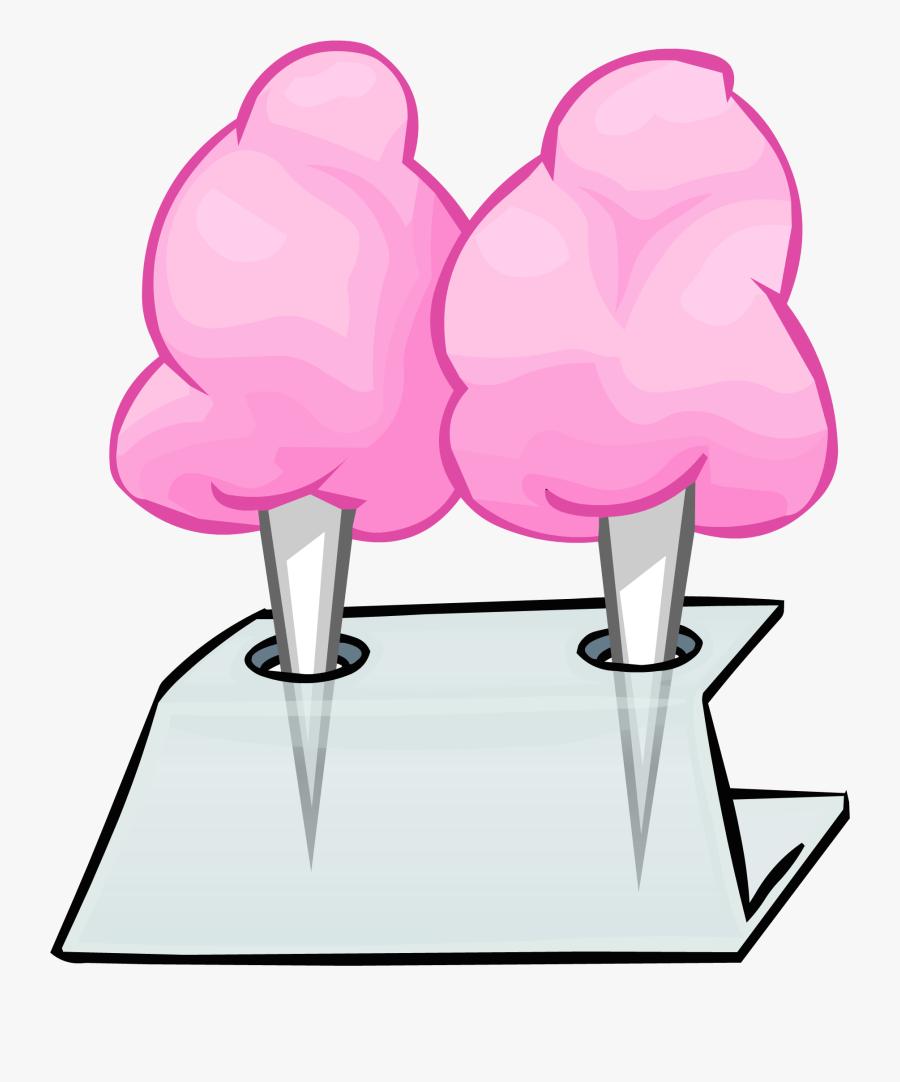 Transparent Cotton Candy Png - Pink Cotton Candy Penguin, Transparent Clipart