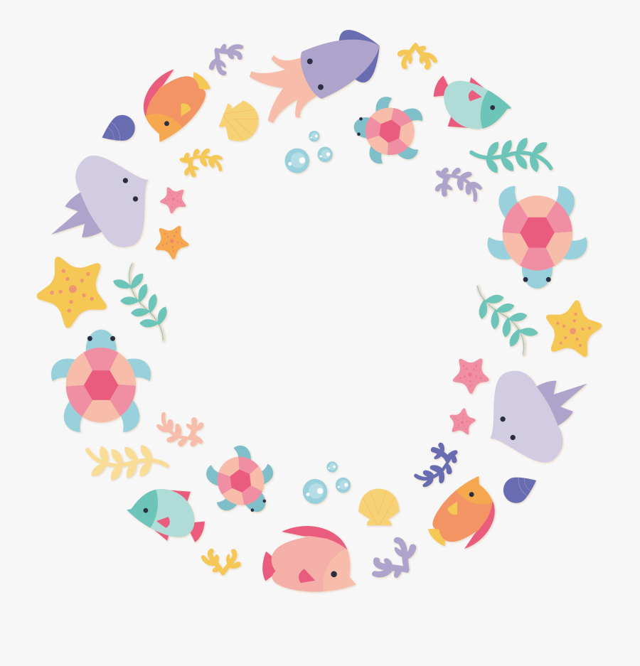 Euclidean Vector Under The Sea Animal - Under The Sea Png, Transparent Clipart
