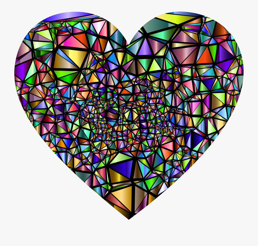 Stained Glass Broken Heart - Broken Heart Stained Glass, Transparent Clipart