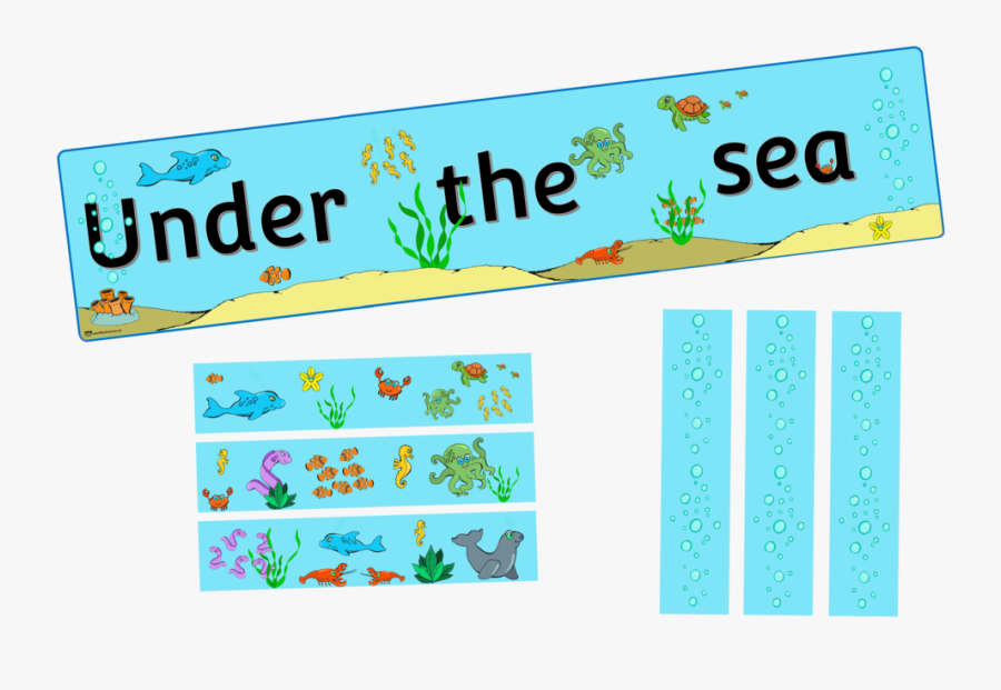 Under The Sea Display, Transparent Clipart