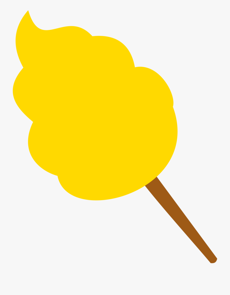 Yellow Cotton Candy Clipart, Transparent Clipart
