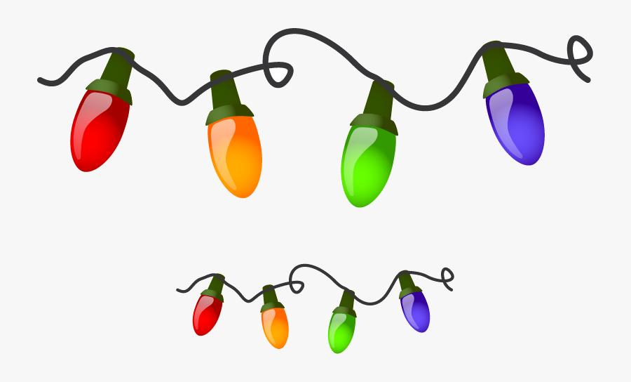 Christmas Lights Light Border Clip Art Clipart Library - Cartoon Christmas Tree Lights, Transparent Clipart