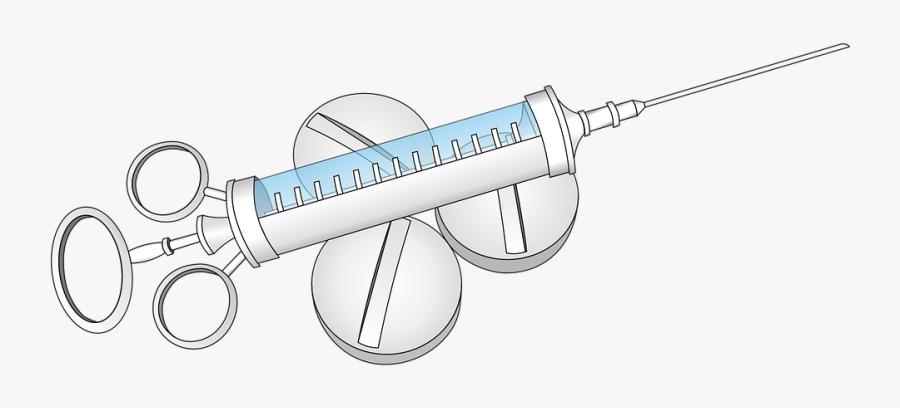 Free Syringe - Syringe, Transparent Clipart