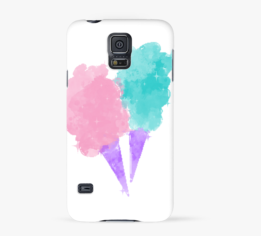 Coque 3d Samsung Galaxy S5 Watercolor Cotton Candy - Ice Cream, Transparent Clipart