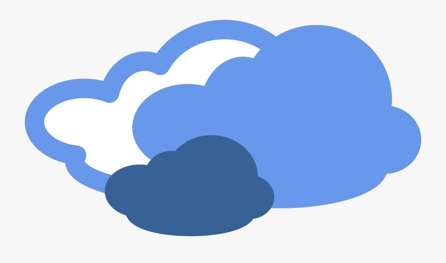 Clip Art Clipart Weather Symbols - Weather Symbols Cloudy, Transparent Clipart
