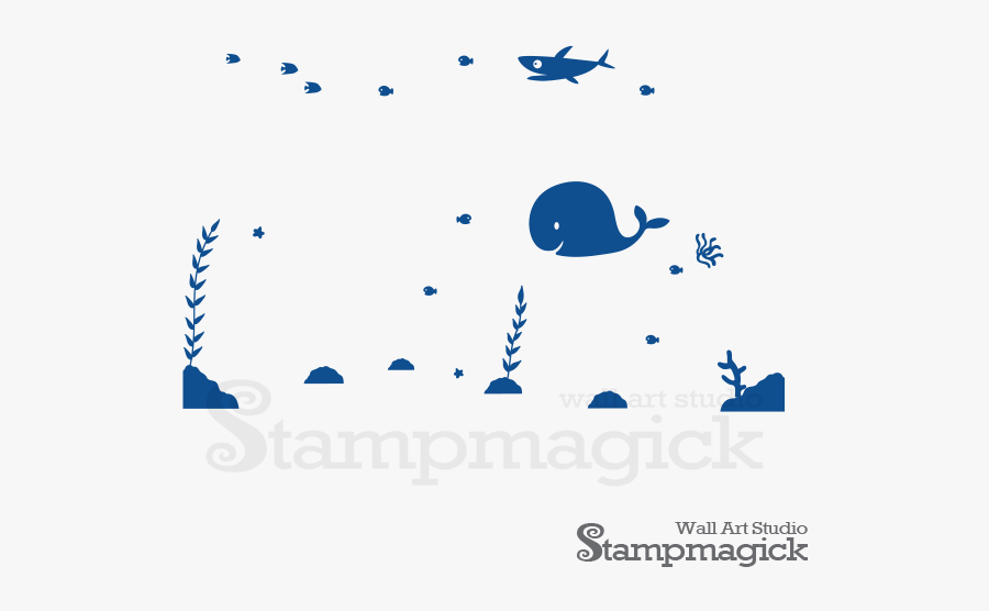 Nursery Under The Sea Room Painting, Transparent Clipart