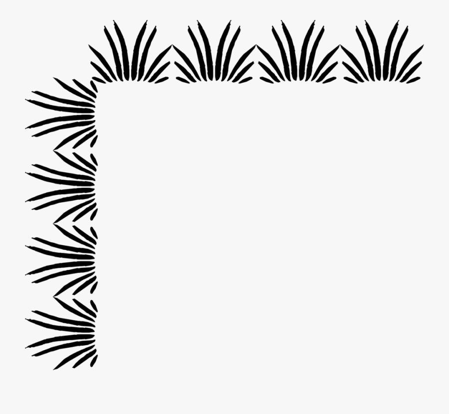 Design Borders In Black And White, Transparent Clipart