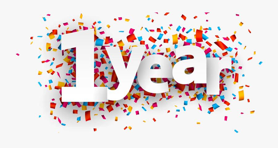 1 Year Anniversary Transparent, Transparent Clipart