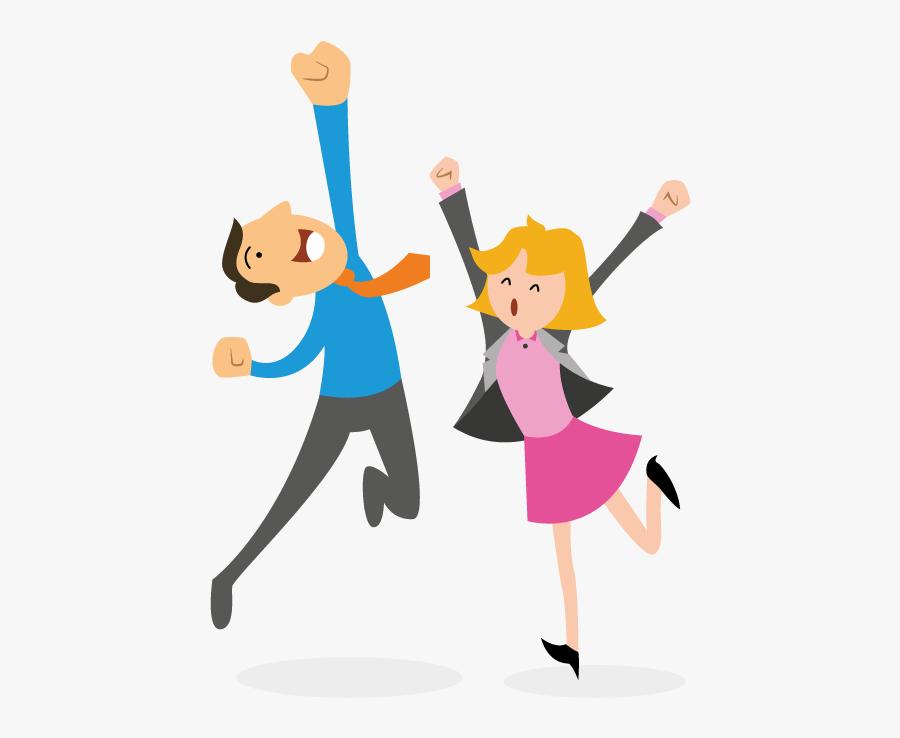 Happy Cartoon Person Clipart Transparent - Happy People Clipart Transparent, Transparent Clipart