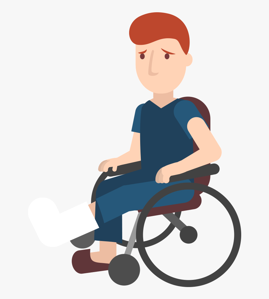 Healthcare Clipart Caring Person - Senior In Wheelchair Clipart, Transparent Clipart