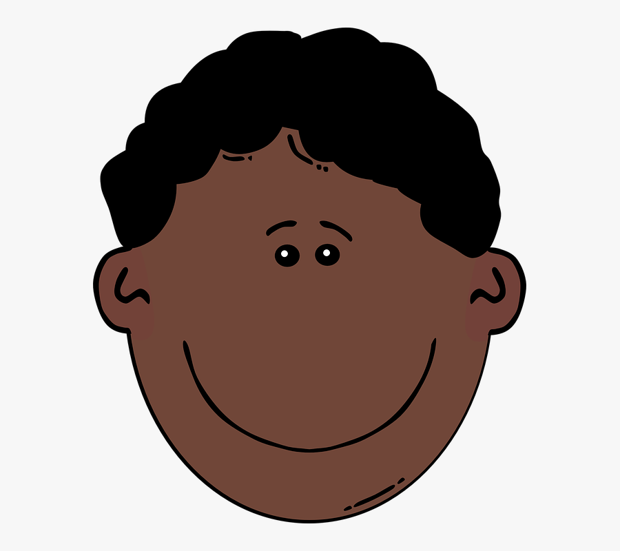 Black Hair Clipart African American Man - Angry Boy Face Cartoon, Transparent Clipart