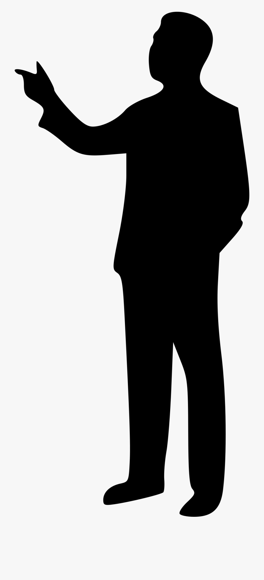 Clipart Pointing Guy Silhouette Person Pointing Png Free Transparent Clipart Clipartkey