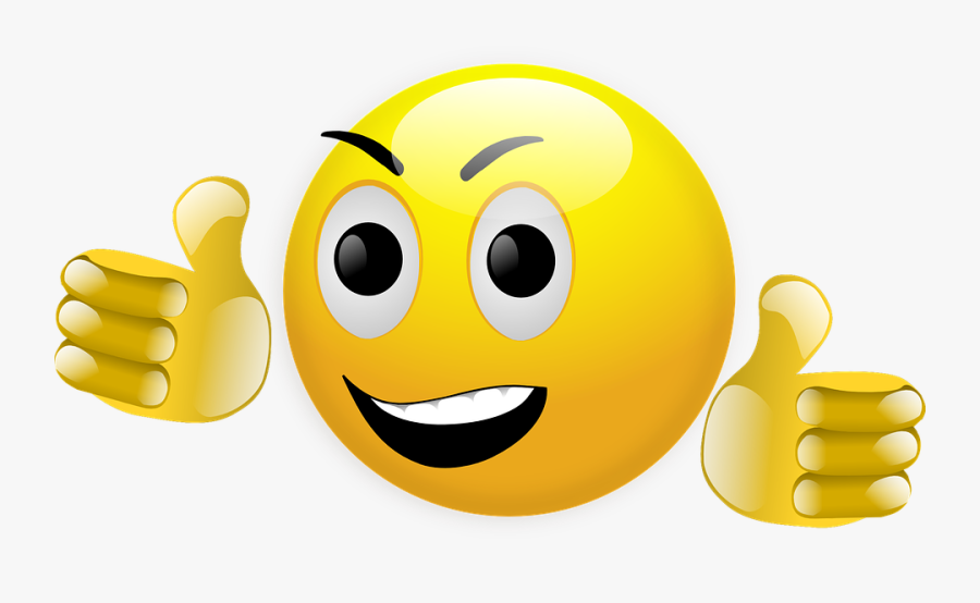 Smile Clipart, Vector Clip Art Online, Royalty Free - Thumbs Up Smiley, Transparent Clipart