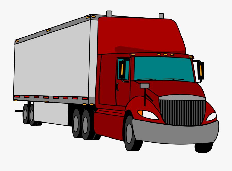 Clip Art Car Truck Free Commercial - Truck Clipart Tractor Trailer, Transparent Clipart