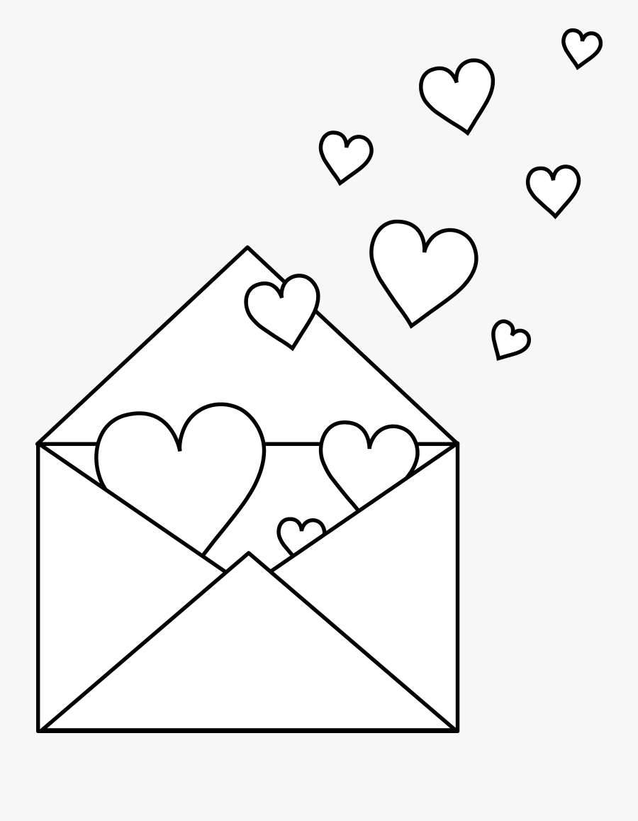 Love Letter Coloring Pages, Transparent Clipart