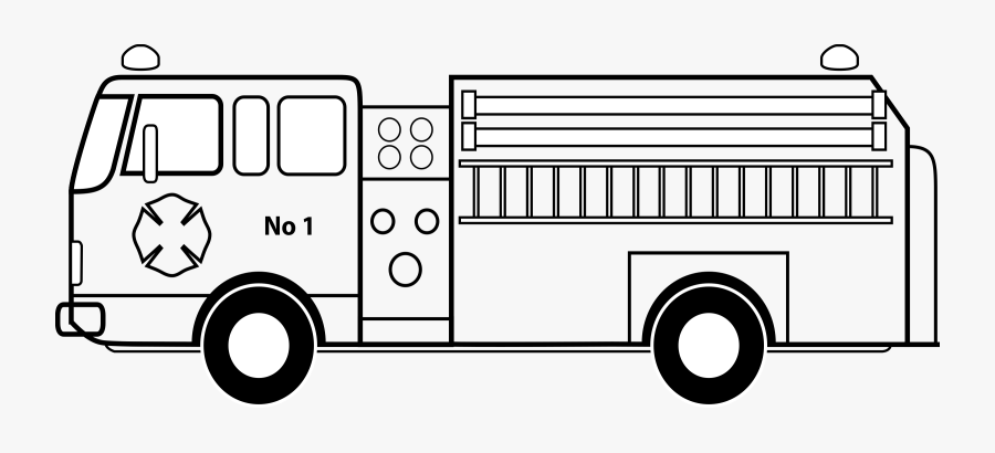 Fire Truck Clipart To Printable - Firetruck Clipart Black And White , Free  Transparent Clipart - ClipartKey