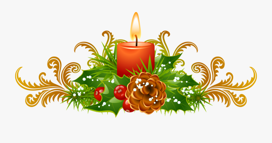 Clip Art Candle Border - Christmas Candle Clipart Free, Transparent Clipart