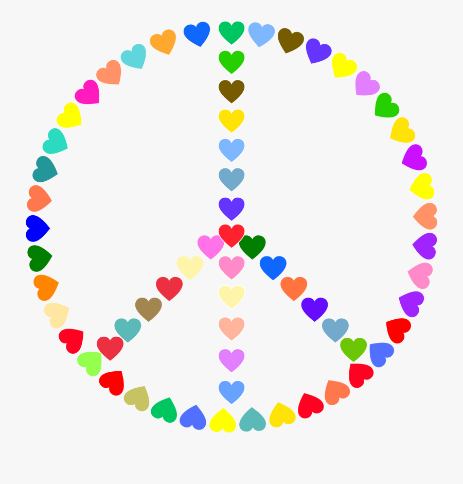 Peace Sign Clipart And Love Pencil In Color - Colorful Peace Sign Clipart, Transparent Clipart