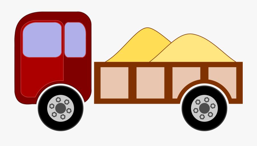 Pick Up Truck Clip Art - รถ ดั้ ม การ์ตูน, Transparent Clipart