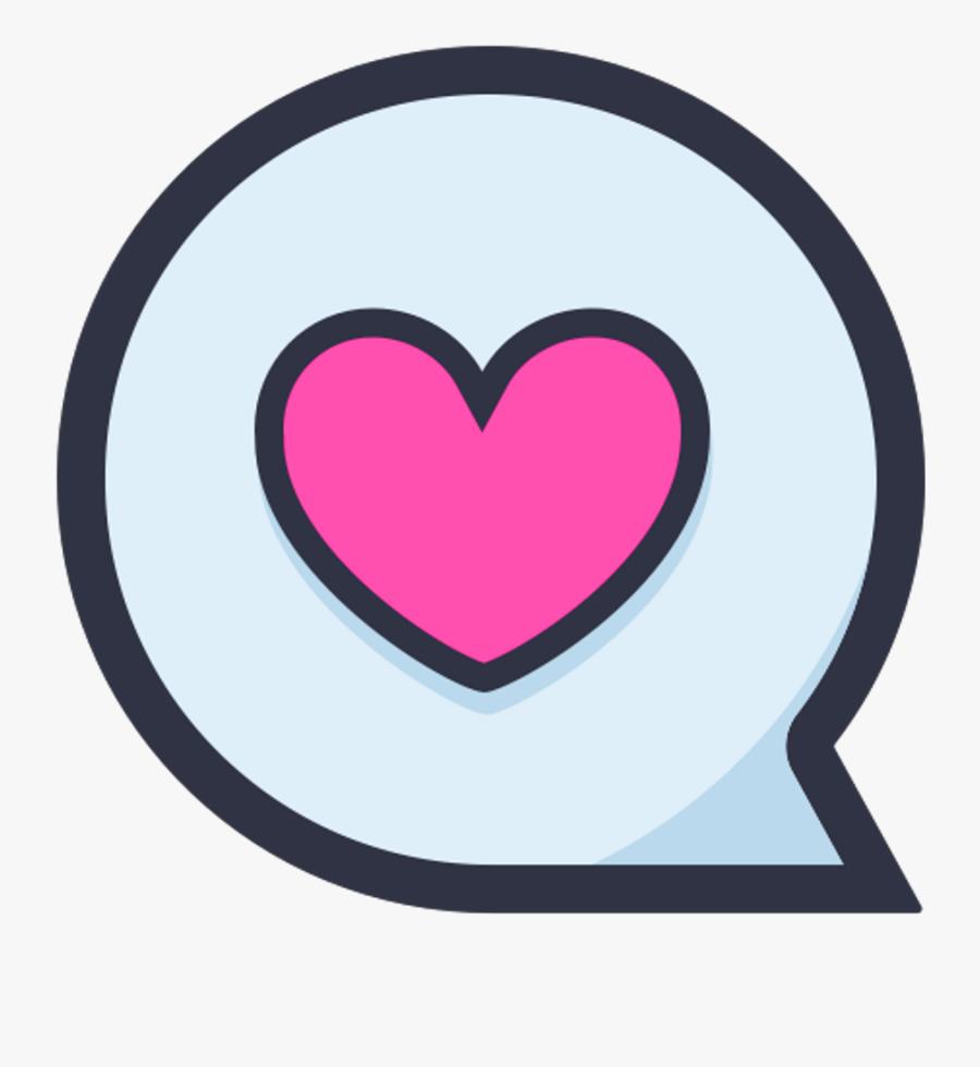 Freetoedit Heart Love Message Sms Flat Minimal Minimali - Heart, Transparent Clipart