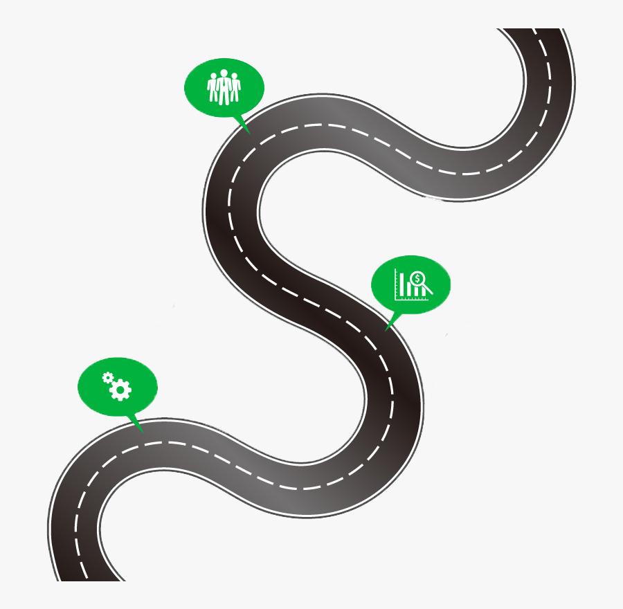 Road Map Infographic Clip Art - Road Map Vector Png, Transparent Clipart