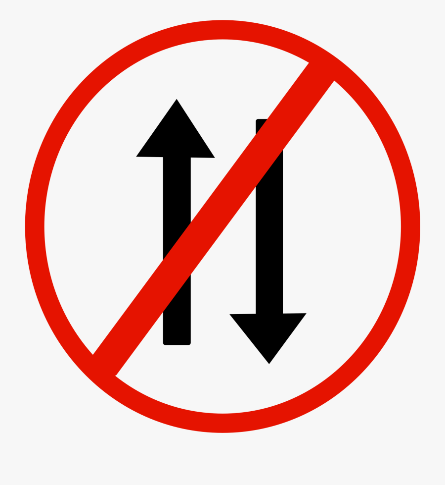 Indian Road Sign - No Way Both Directions Sign, Transparent Clipart