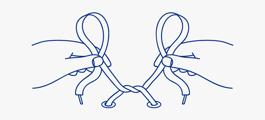 Tie Clipart Lace - Bunny Ears Loop For Tying Shoelaces, Transparent Clipart