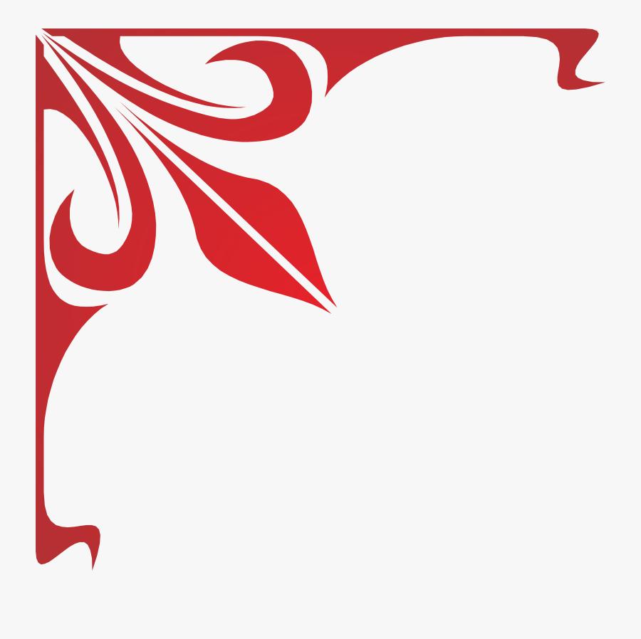 Lace Clipart Corner Lace - Frame Corner Design Png, Transparent Clipart