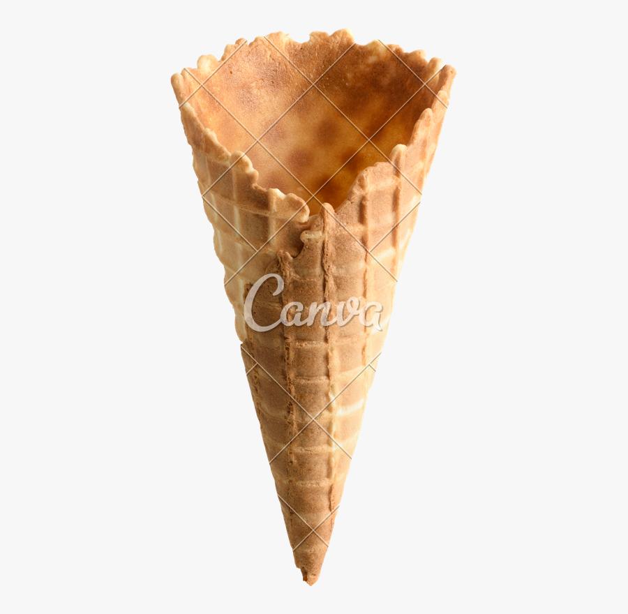 Empty Ice Cream Cones, Transparent Clipart