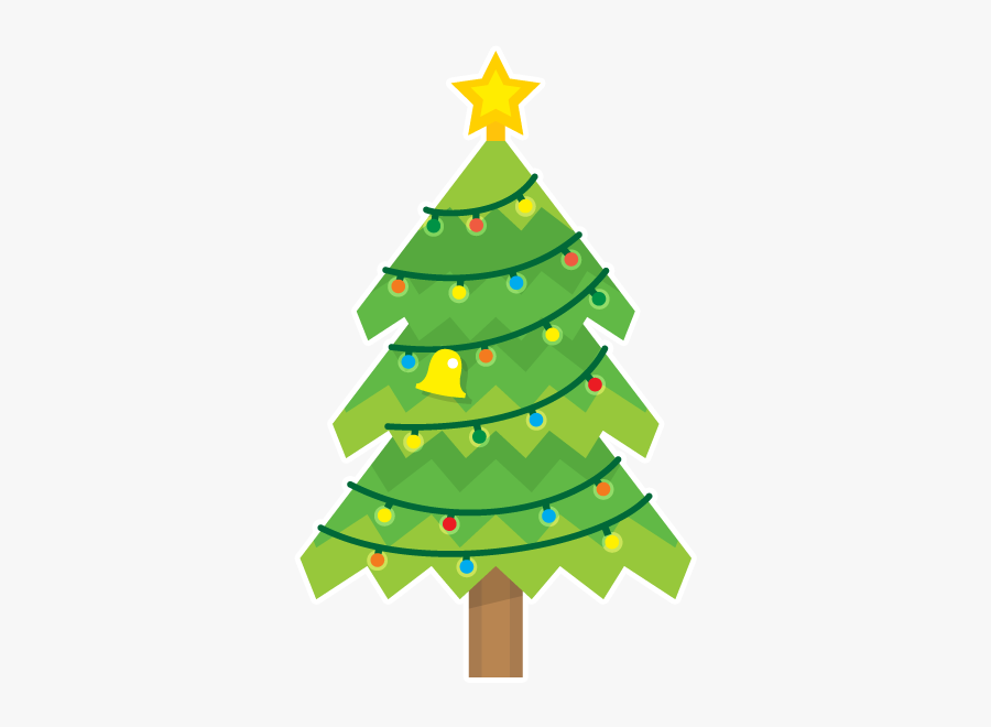 Blinking Christmas Trees Messages Sticker-10 - Christmas Tree, Transparent Clipart