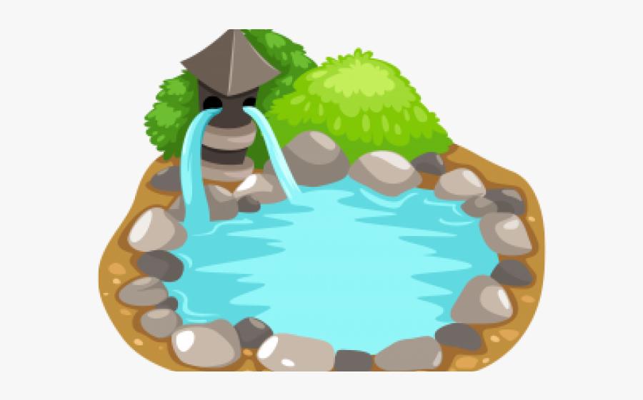 Lily Pad Clipart Frog Habitat - Koi Pond Clipart, Transparent Clipart