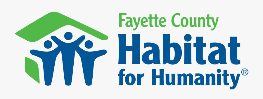 Fayettecounty Tx Hz 2clr - Habitat For Humanity Logo Transparent, Transparent Clipart