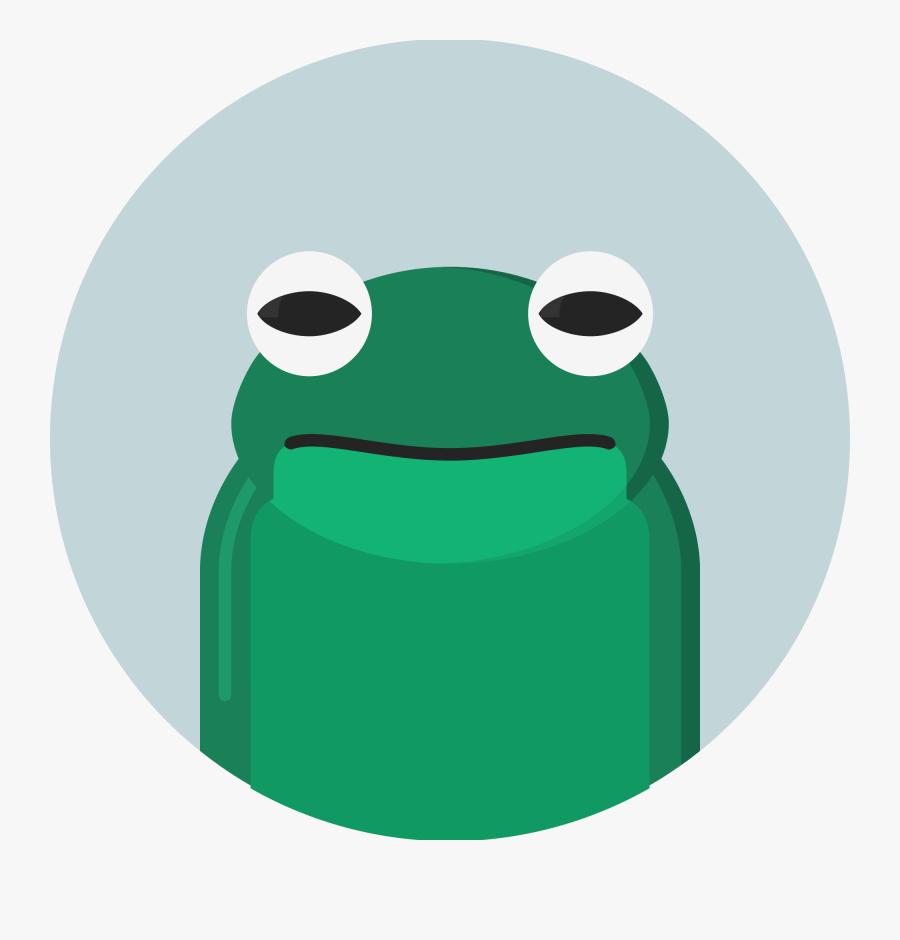 Amphibian Clipart Frog Habitat - Frog Flat Icon, Transparent Clipart