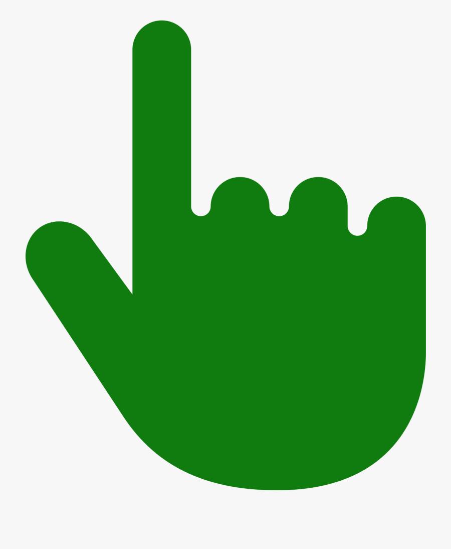 Thumb Tack Clipart Svg - Cursor Hand Green, Transparent Clipart