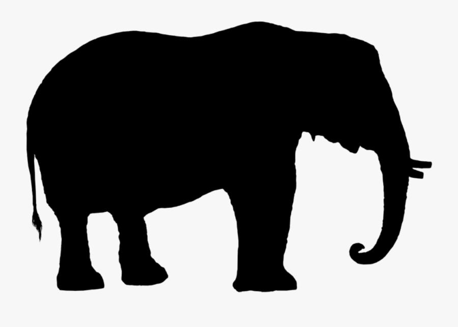 Elephant Silhouette Elephant Silhouette Elephant Young - Silhouette Elephant Clipart Black And White, Transparent Clipart
