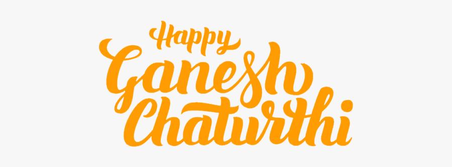 Ganesh Vector Typography - Happy Ganesh Chaturthi Vector, Transparent Clipart