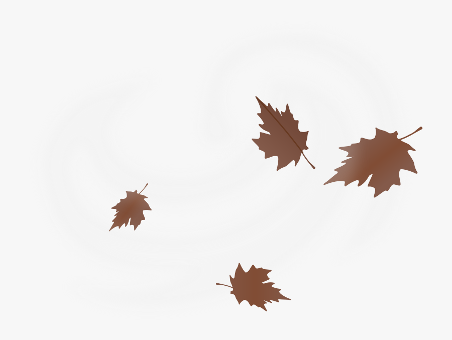 Free Numu08 Windy - Blowing Leaves Clip Art, Transparent Clipart