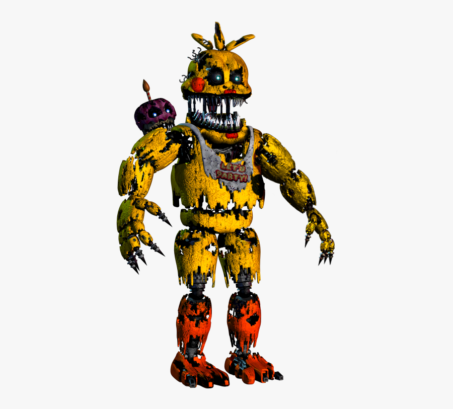 Banner Transparent Stock Speed Edit Toy Fivenightsatfreddys - Fnaf Nightmare Chica Png, Transparent Clipart